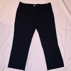 NWOT Black and White Striped Capris